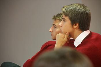 Alumnos Secundaria durante la sesión School Master