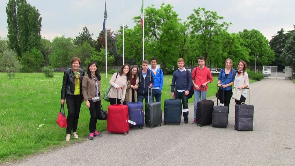 El equipo español del Lope de Vega, integrado por 8 alumnos y dos profesoras