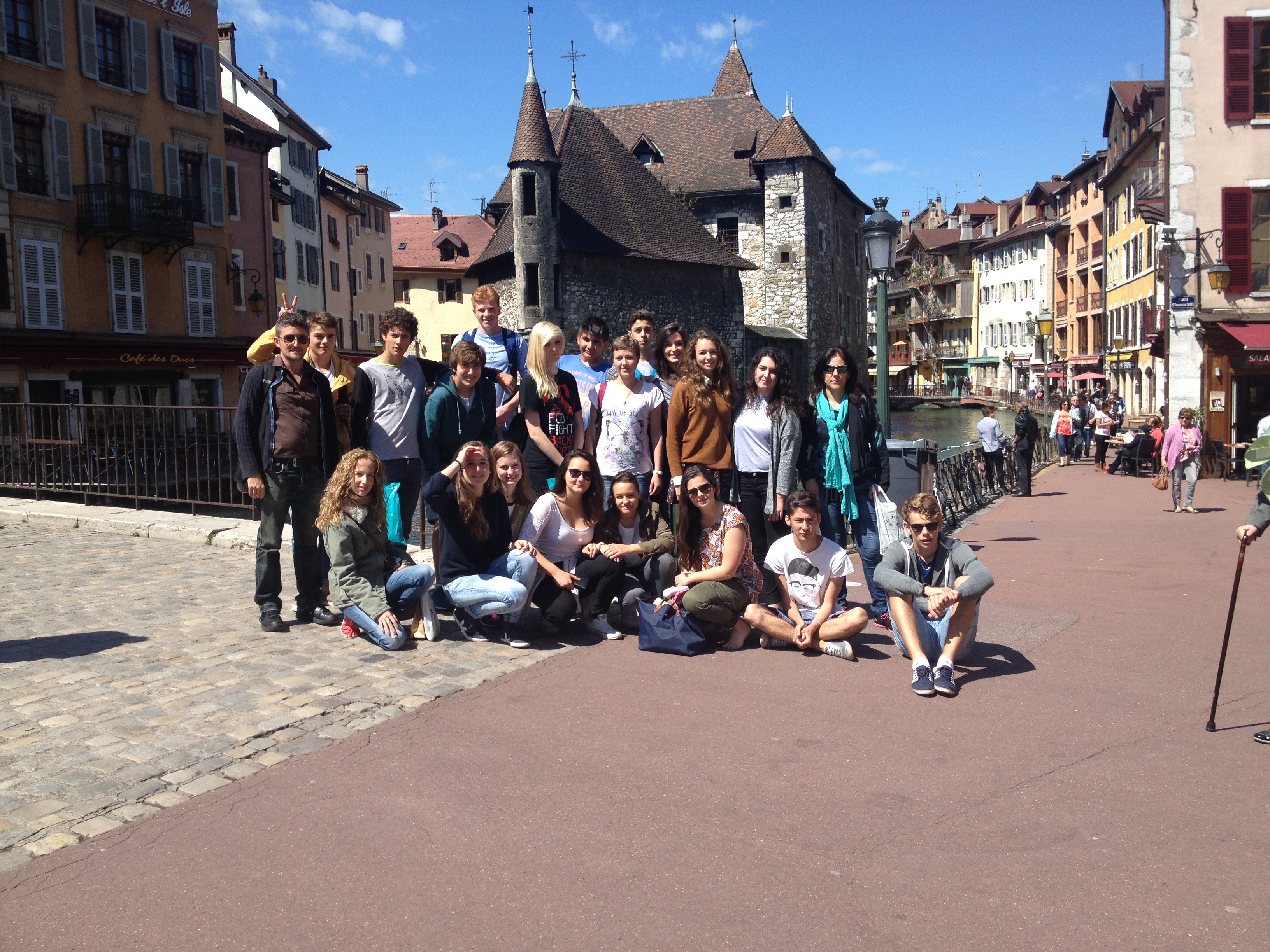 Nuestros alumnos con sus anfitriones franceses