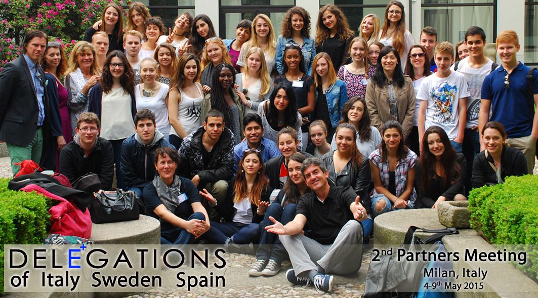 El grupo de estudiantes y profesores italianos, suecos y españoles que integran el proyecto Y-E.S.