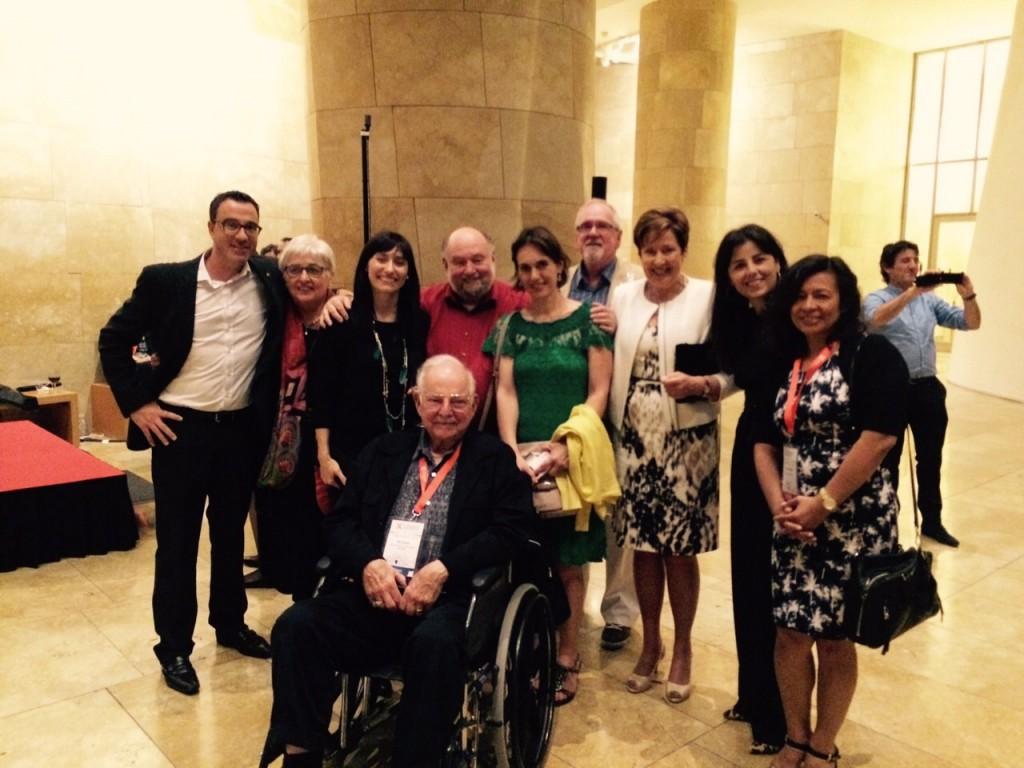 Con Arthur Costa, Carol Macguiness y otras personalidades