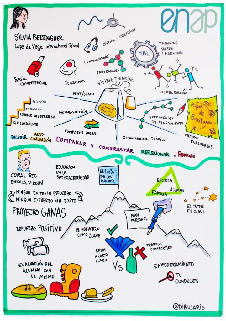 Ilustración de la conferencia en el ENAP